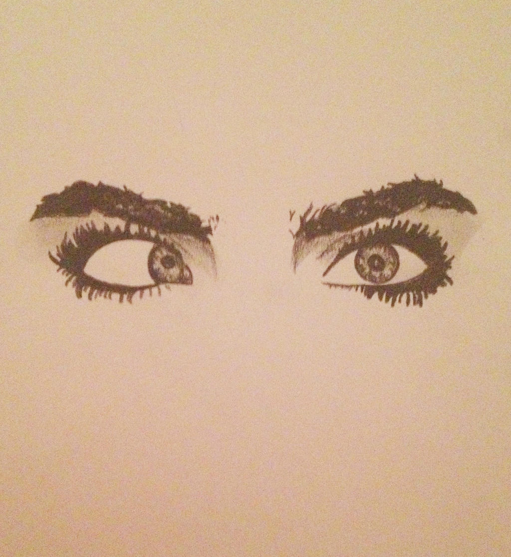 Cara delevingne eyes sketch by jodiewillmott on deviantart for Tumblr drawings of eyes