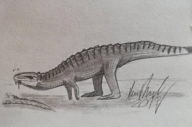 ArchosaurArtApril: Day 12 Poposaurus by ArminReindl
