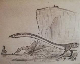 ArchosaurArtApril: Day 13 Tanystropheus by ArminReindl