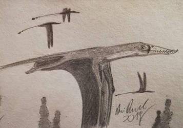 ArchosaurArtApril: Day 14 Rhamphorhynchus by ArminReindl