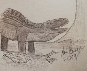 ArchosaurArtApril: Day 15 Prestosuchus by ArminReindl