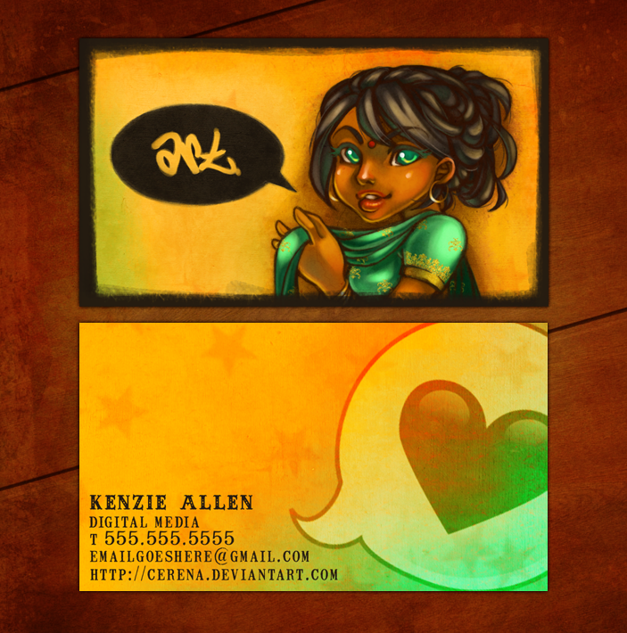 What She Said -- business card