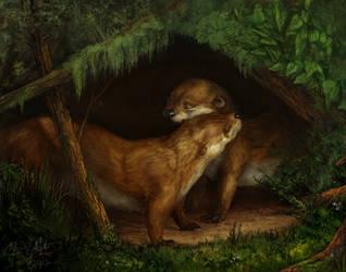 Sentimental Otters by KlakKlak