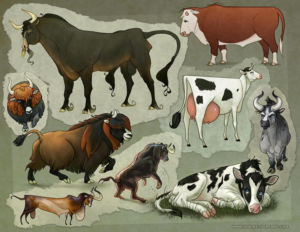 Character Design: Cattle by KlakKlak