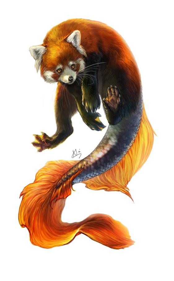 Commission: Fishpanda by KlakKlak