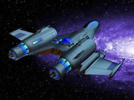 Space Fighter Pegasus by N-Mel