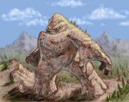 Mountain giant by N-Mel