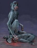 Vampire monkey by N-Mel