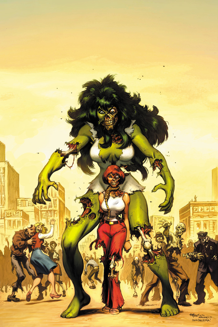 She Hulk Zombie cover by EdMcGuinness