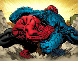 Red Hulk meets A Bomb