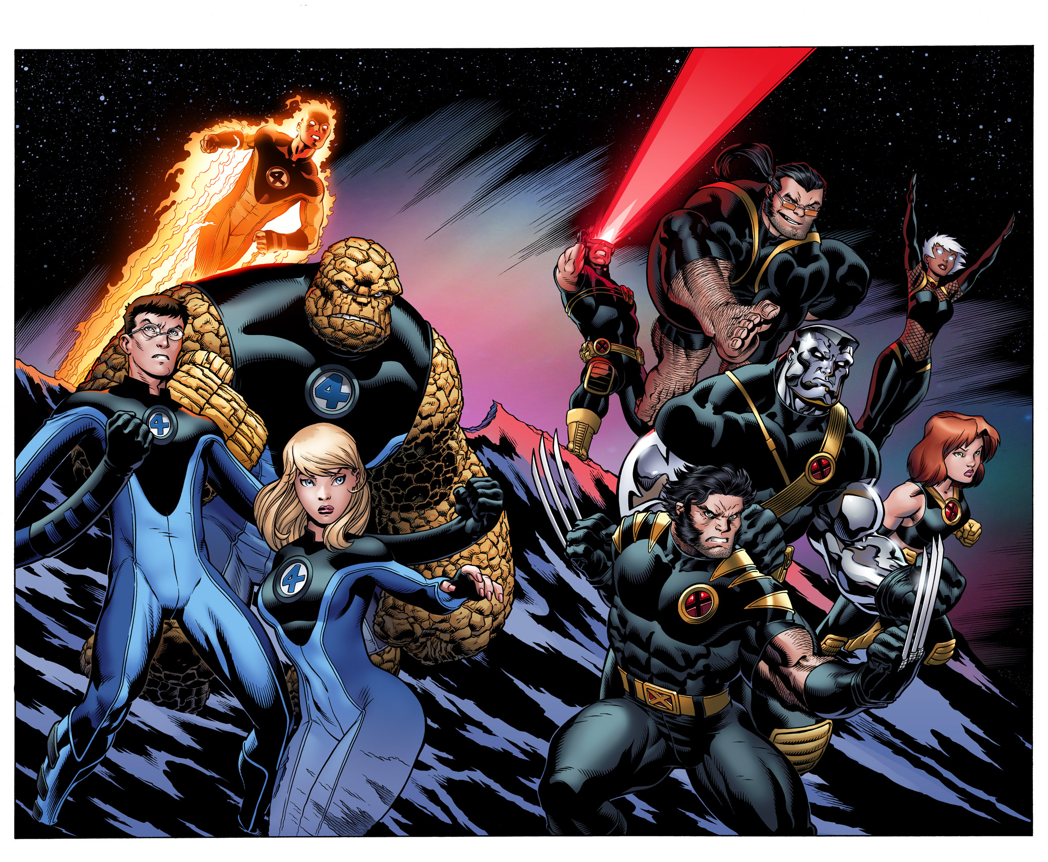Ultimate FF and Xmen by EdMcGuinness