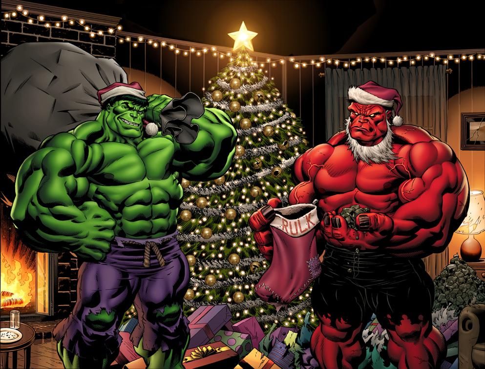 Hulk Christmas colors