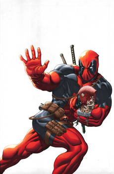 Deadpool cover colored