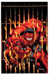 Red Hulk heats it up by EdMcGuinness