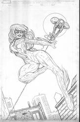 Black Cat and Spidey cover