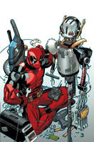 Deadpool-Ultron variant cover by EdMcGuinness