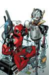 Deadpool-Ultron variant cover
