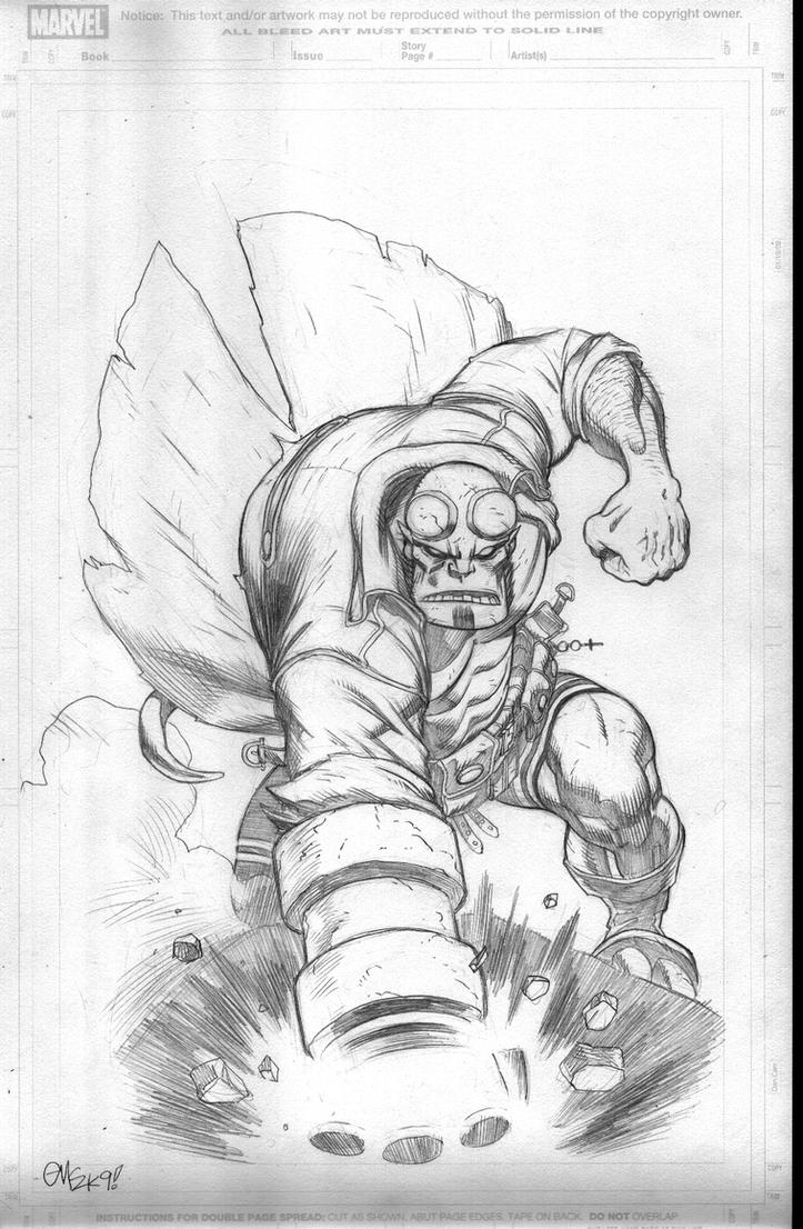 An old Hellboy commission by EdMcGuinness