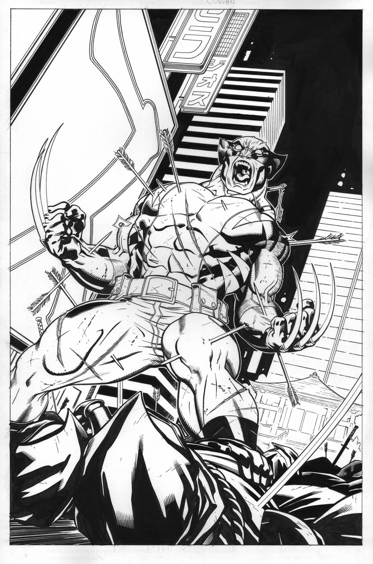 Wolverine Tokyo Cover by EdMcGuinness
