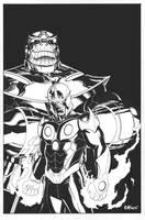 Nova?  Rich Ryder?!?  Thanos? by EdMcGuinness