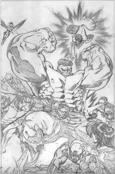 world war hulk x-men pencils