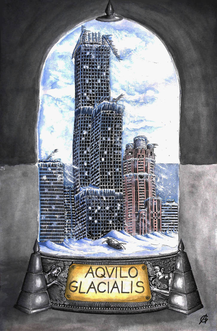 Postapocalyptic bottle cities 2.- Aquilo Glacialis by Alerazz501
