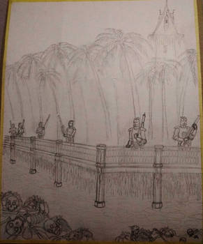 Tower of Ice - pencil sketch (WIP)