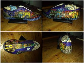 Urban legends sneakers - Left shoe (commission)