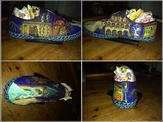Urban legends sneakers - Right shoe (commission)