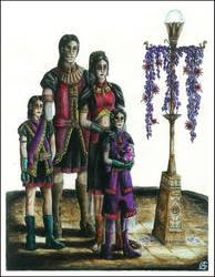 Ube Rhe Barhim Family nightime attire