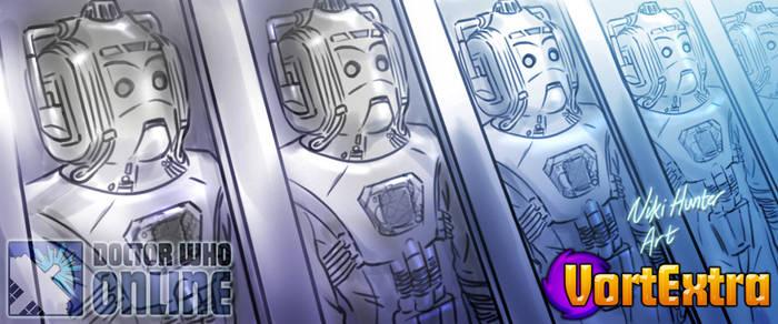Cybermen in storage