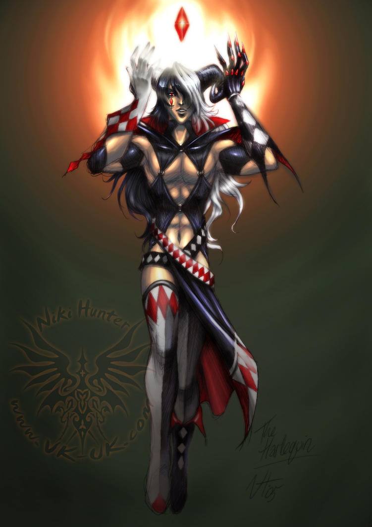 Anime Jester Characters : The harlequin by niki uk