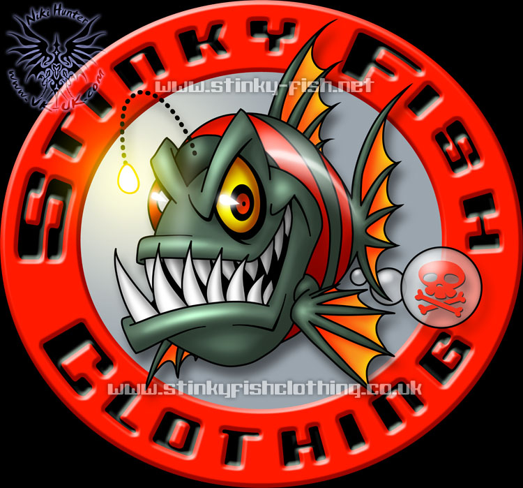 Stinky fish logo by niki uk on deviantart for Stinky fish in a can