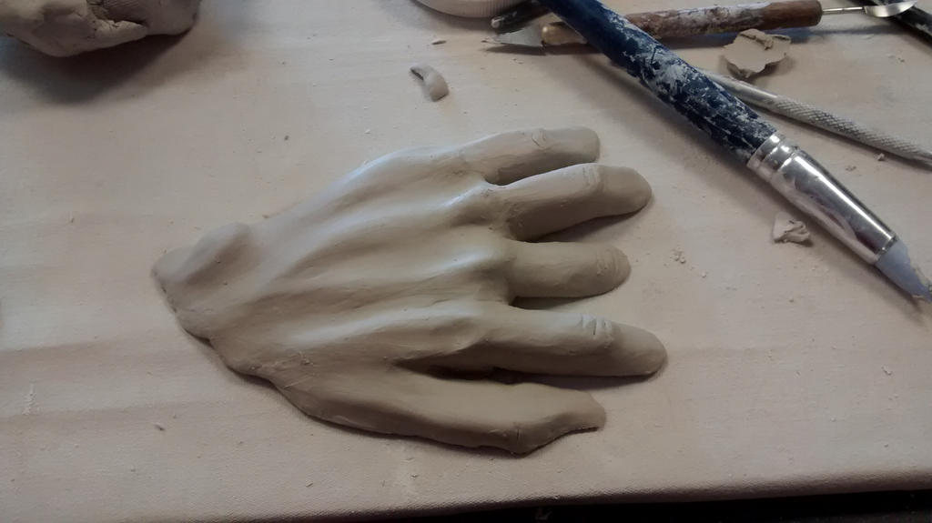 Face and Hand out of Water WIP 3 by lowrygirlmadi