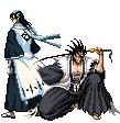 Byakuya + Zaraki sprite04 by forgottentea