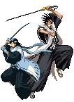 Byakuya + Zaraki sprite05 by forgottentea