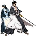 Byakuya + Zaraki sprite06 by forgottentea