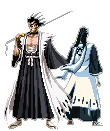Byakuya + Zaraki sprite07 by forgottentea
