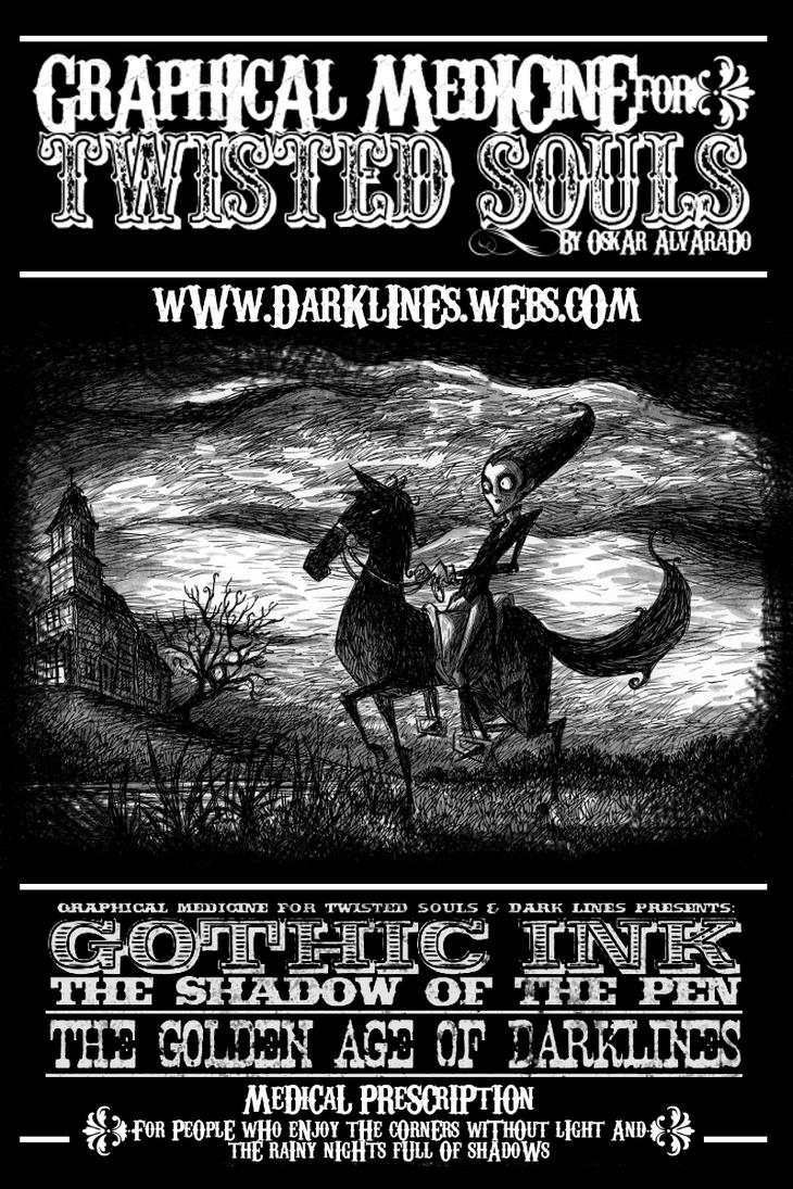 Old Poster DARK LINES by