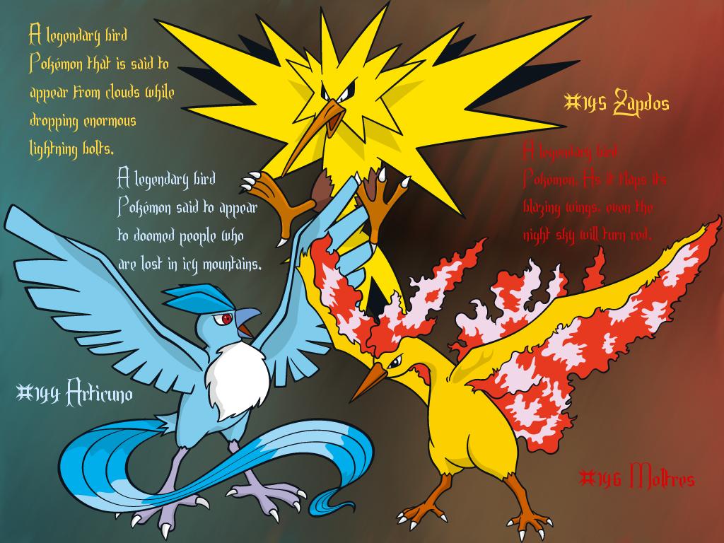 Kanto Legendary Birds Trio GIMP Wallpaper by Queen ...