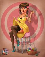 Aubrey Commission PinupBombshells by PinupBombshells