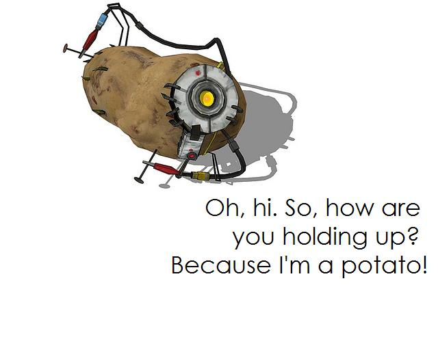 Glados Quote Potato By Nathanr2013 On Deviantart