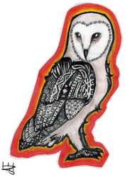 Barn Owl - Traditional by blissbird