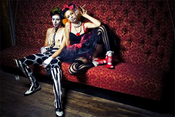 Striped Spats by AntisepticFashion