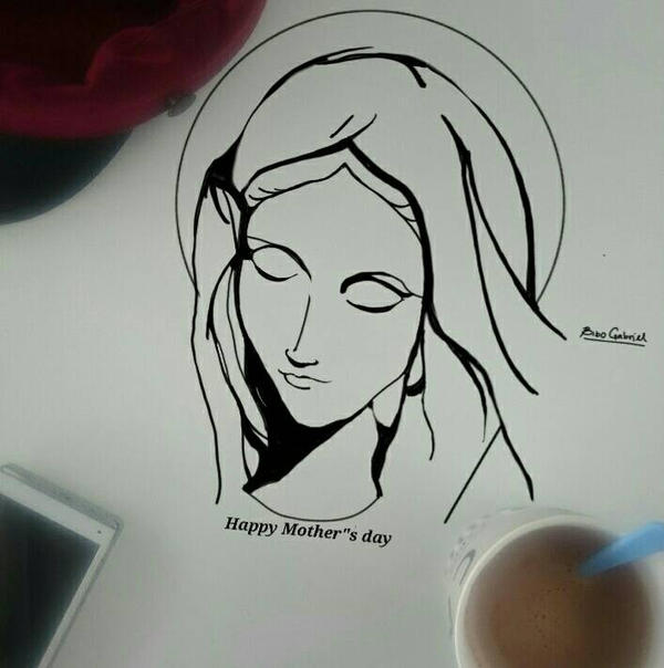 Mother mary(Happy Mothers day) by Bibogabriel