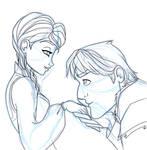 A kiss on the hand by DarkmatterNova