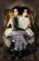 Stripey Twins by vismaya