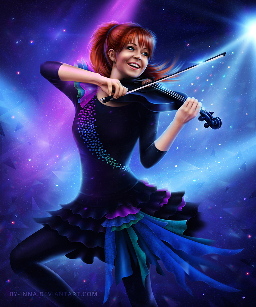 Violin Wallpaper: Magic Of The Violin ( Lindsey Stirling ) By By-Inna On