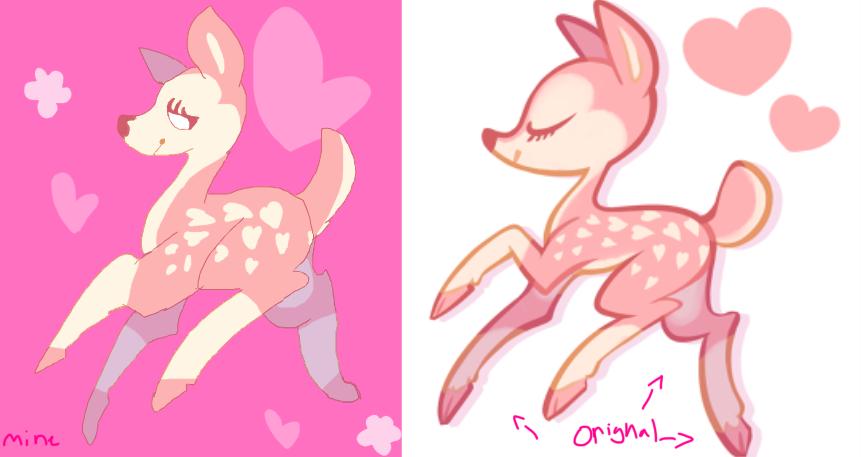 A Pink Fucking Deer by LauThePyscho