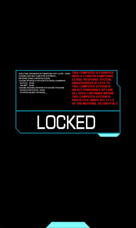 Stargate Atlantis WP7 Lock